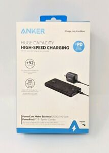 Anker - PowerCore Metro PD 20,000 mAh Portable Charger USB-ENABLED DEVICES, NEW