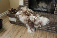 Genuine Icelandic Sheepskin Rug Throw – shade of brown