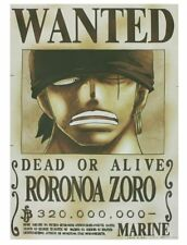 ONE PIECE WANTED POSTER ZORO NEWS MEMBERS CARD MUGIWARA STORE OFFICIAL