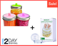 Fermentation Kit 6 Pcs Fermentation Weight + 6 Pcs Lids for Wide Mouth Mason Jar