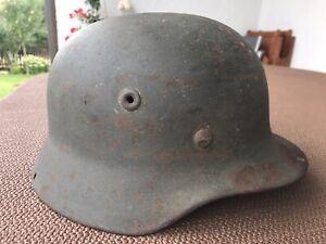Original Stahlhelm M40 Wehrmacht SD Mit Innenfutter Ungeöffnet
