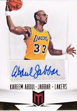 2012-13 Panini Momentum Kareem Abdul-Jabbar Autograph Auto /99 LA Lakers