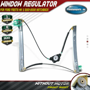 Window Regulator w/o Motor for Ford Fiesta MKV 3 Door 01-08 Front Right Driver