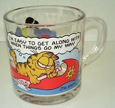 "VTG Collectible McDonalds 1978 Garfield Glass Mug ""I'm Easy to Get Along With"""