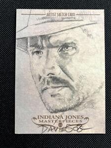 2008 TOPPS MASTERPIECES INDIANA JONES SKETCH CARD JASON DAVIES HARRISON FORD