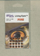 Fish Skull - Living Eyes - 5.0 mm - fire  quantity 20     FS-LE-F5