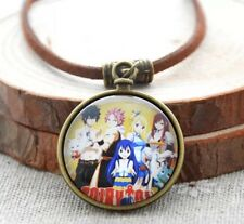 Fairy Tail Anime Leather Necklace Pendant US Seller