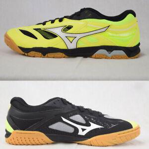 Mizuno Wave Medal 6 Table Tennis Shoes Unisex Lime Black Indoor NWT 81GA191545