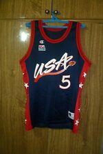 USA 1996 Champion Basketball Jersey #5 Grant Hill Basketball NBA Men Size 44