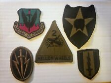 5pc lot - Hell on Wheels, Tactical Air Command, Army, Air Force, Patch Authentic