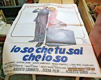 Io So Che Tu Sai Che Manifesto 2F Original 1982 Sordi Vitti