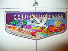 OA O Shot Caw Lodge 265 S-14,1989 TAN Name,Flap,GRY Bdr,South Florida Council,FL