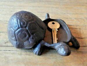 Cast iron Tortoise secret Key hider hideaway keeper Garden Home Door UK seller