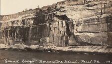 Gannet Ledges Bonaventure Island PERCÉ Quebec 1920-40s Henderson RPPC 112