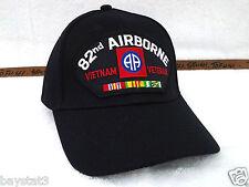 82ND AIRBORNE VIETNAM VETERAN (BLACK) Military Veteran US ARMY Hat 53 VVEB