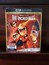 Disney Pixar The Incredibles 4K Ultra Hd Blu Ray 3 Disc Set + Slipcover Sleeve