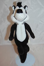 "Warner Bros Looney Tunes PePe Le Pew Skunk Embroidered Eyes Plush Bean 12"" Toy"