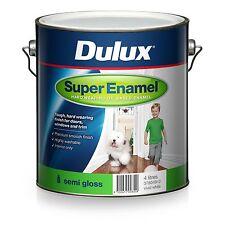 DULUX 4 LITRE SUPER-ENAMEL OIL-BASE INTERIOR SEMI-GLOSS WHITE  COLOUR PAINT