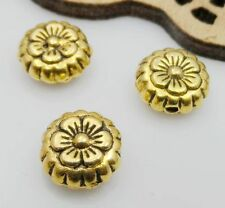 Free Ship 30Pcs Gold Tibetan Flower Spacer Beads 7.5x4mm