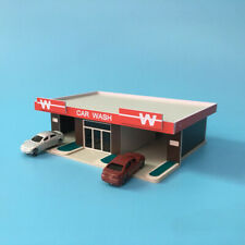 N Scale1:150 Outland Models Railway Scenery Layout Car Wash Building Brown Wall