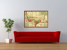 1835 VINTAGE TEXAS INDIAN TERRITORY MAP GIANT ART PRINT PANEL POSTER NOR0229