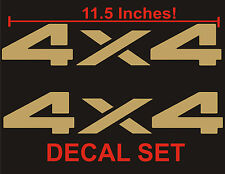 4x4 Truck Bed Decals, Gold (Set) for Dodge Ram or Dakota