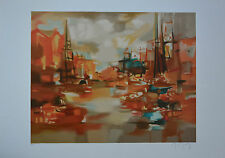 """Marcel Mouly """"AMSTERDAM CHAUD"""" Limited Edition Signed Numbered Lithograph  + COA"""