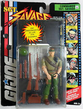 GI JOE 1994 SGT SAVAGE COMMANDO WITH GREEK EXCLUSIVE TAPE EUROPEAN MOSC RARE