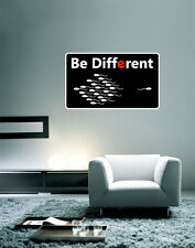 "Be Different Funny Wall Decal Large Vinyl Sticker 25"" x 16"""
