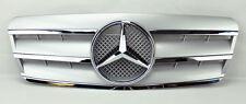 Mercedes CLK Class W208 98-03 3 Fin Front Hood Sport Silver Chrome Grill Grille