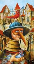 "ORIGINAL Painting Oil 30""x16""  Russian Art .Pronkin. Abstract surrealism unique"