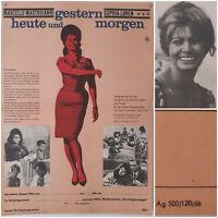 GESTERN, HEUTE, MORGEN | 1966 Kino Plakat A2 | Sophia Loren Mastroianni de Sica