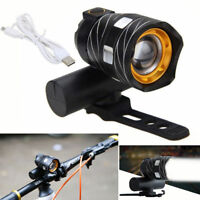 USB Rechargeable XML T6 LED Bicycle Bike Light Front Cycling lamp Headlight EN