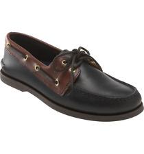 NEW Sperry TopSider Men's Authentic Original Leather Boat Shoe Black Amaretto 10