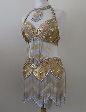 Jasdee Belly Dance Costume Hand Work Beaded Style 1103