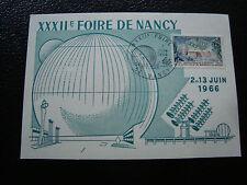 FRANCE - carte  7/6/1966 (foire de nancy) (cy51) french