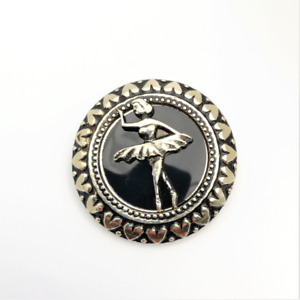 Ballet Dancer Scarf Clip Vintage Head Square Ring Costume Jewellery