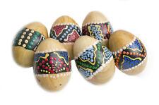 Huevo de madera Sonido de maracas huevos Pintado a mano artesanal