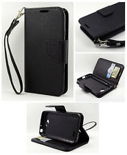For LG Optimus Exceed 2 L70 Candy Dual-Use Flip PU Leather Wallet Pouch Case