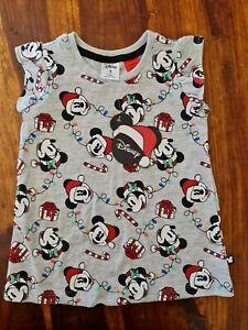 NEW Disney MICKEY & MINNIE MOUSE CHRISTMAS Night Dress - Size 1