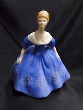 "Royal Doulton Figurine ""Nina"", HN2347, England, Blue Dress w/ Floral Design 7.5"""