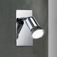 WOFI LED Lámpara Pared Spot SOLUTION 1 luz cromado Pasillo Sala Cocina Escalera