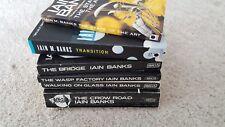 Iain Banks science fiction books job lot x 6