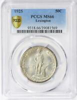 1925 Lexington Commemorative Silver Half Dollar - PCGS MS 66 - Mint State 66