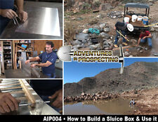 How To Build A Sluice Box & Use It Dvd with Pdf file Plans