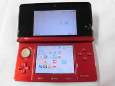 X4824 Nintendo 3DS console Flare Red Japan w/stylus pen