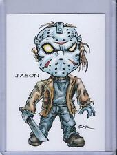 JASON VOORHEES ** FRIDAY THE 13TH ** TRADING CARD ART SIGNED by RAK ** NEAR MINT