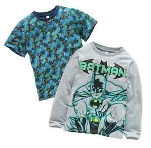 DC COMICS BATMAN:PACK OF 2 T SHIRTS,3/4,5/6,7/8YR,NEW WITH TAGS