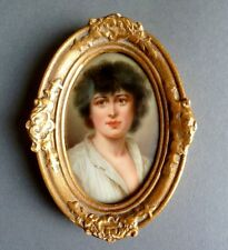 Miniatur / Porzellanbild Porträt, eines jungen Mannes, Südländer, 19. Jh.