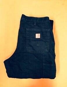 Carhartt Carpenter Black Vintage Winter Work Jeans Size 36 x 34
